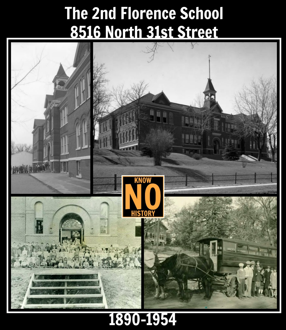 The second Florence School, 8516 North 31st Street, North Omaha, Nebraska.
