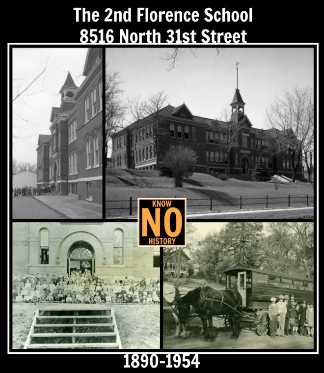 The second Florence School, 8516 North 31st Street, North Omaha, Nebraska.