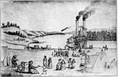 """Florence Ferry """"Nebraska"""" in 1859."""