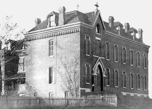 This is the original Poor Clares Monastery built in 1904. It still stands at N. 29th and Hamilton Streets in North Omaha, Nebraska.