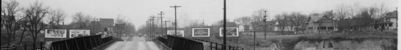This is a view from the Locust Street Viaduct looking west towards the intersection of North 16th and Locust in the 1940s.