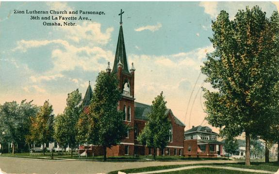 Zion Lutheran Church, N. 36th and Lafayette Avenue, Bemis Park Landmark Heritage District, North Omaha, Nebraska