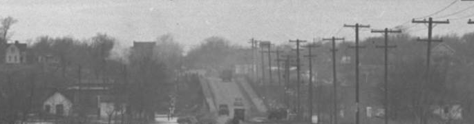 This is the Locust Street Viaduct in North Omaha around 1945.