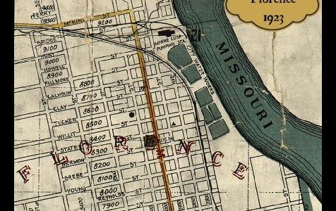 Florence, Nebraska map from 1923