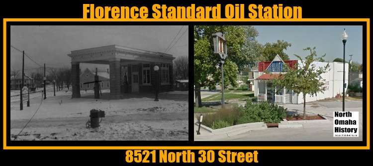 This 1917 pic shows the Florence Standard Oil station that was located at 8521 North 30 Street in North Omaha.