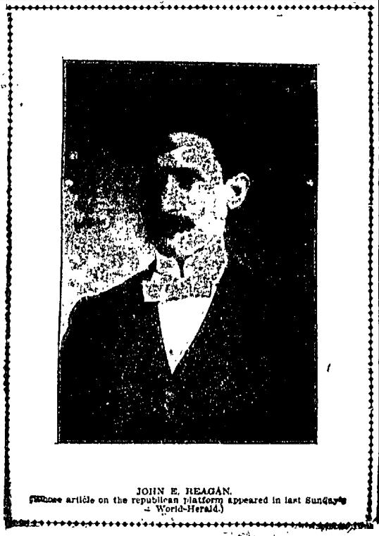 John E. Reagan, North Omaha, Nebraska