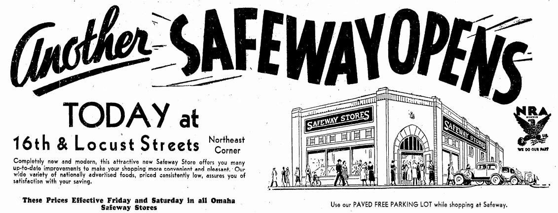 Safeway, N. 16th and Locust Streets, North Omaha, Nebraska
