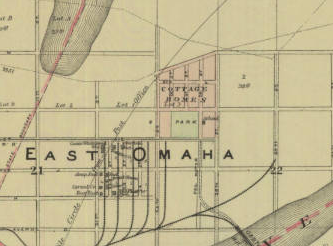 East Omaha, Nebraska map