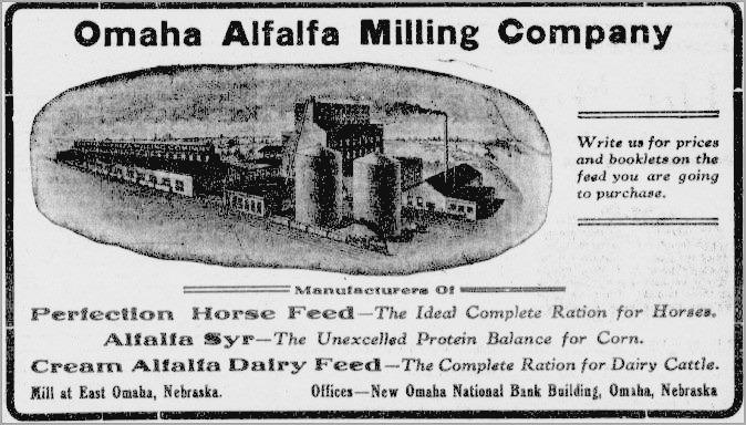 Omaha Alfalfa Milling Company, East Omaha, Nebraska
