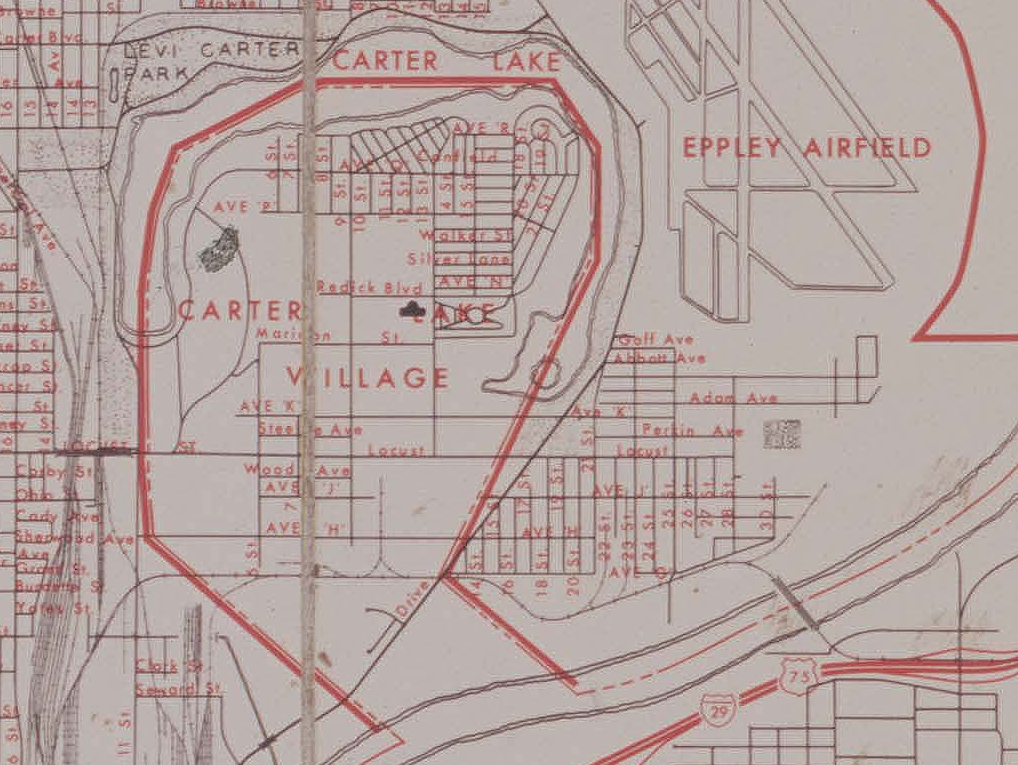1971 map of East Omaha, Nebraska