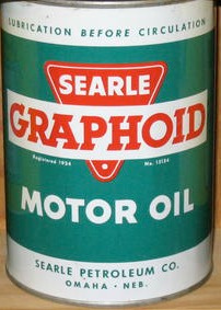 Searle Petroleum Company can from the 1950s.