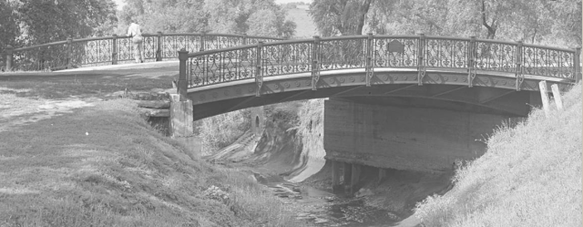 One of the bridges in Miller Park by Bostwick and Frohardt in 1914 in North Omaha, Nebraska