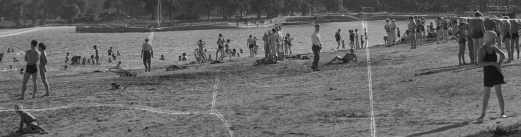 Omaha Municipal Beach circa 1946