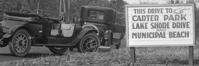 1910s Carter Park sign
