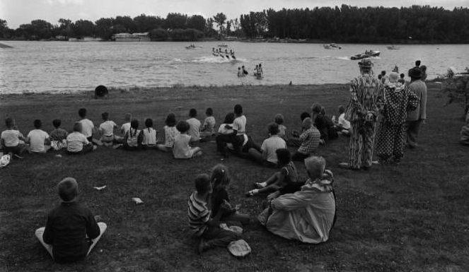 Omaha Municipal Beach at Carter Lake in 1968