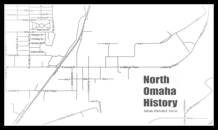 Map of East Omaha, Nebraska