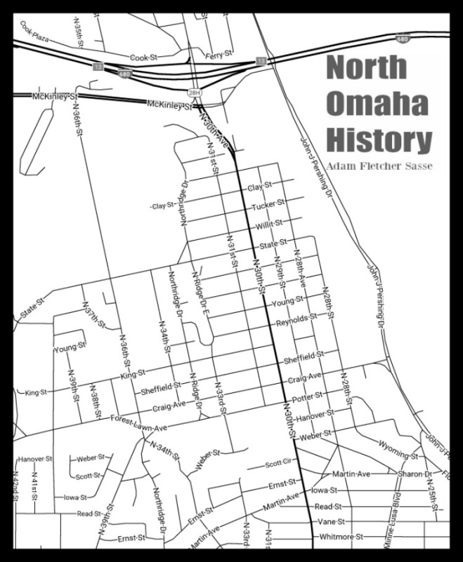 Map of Florence, North Omaha, Nebraska