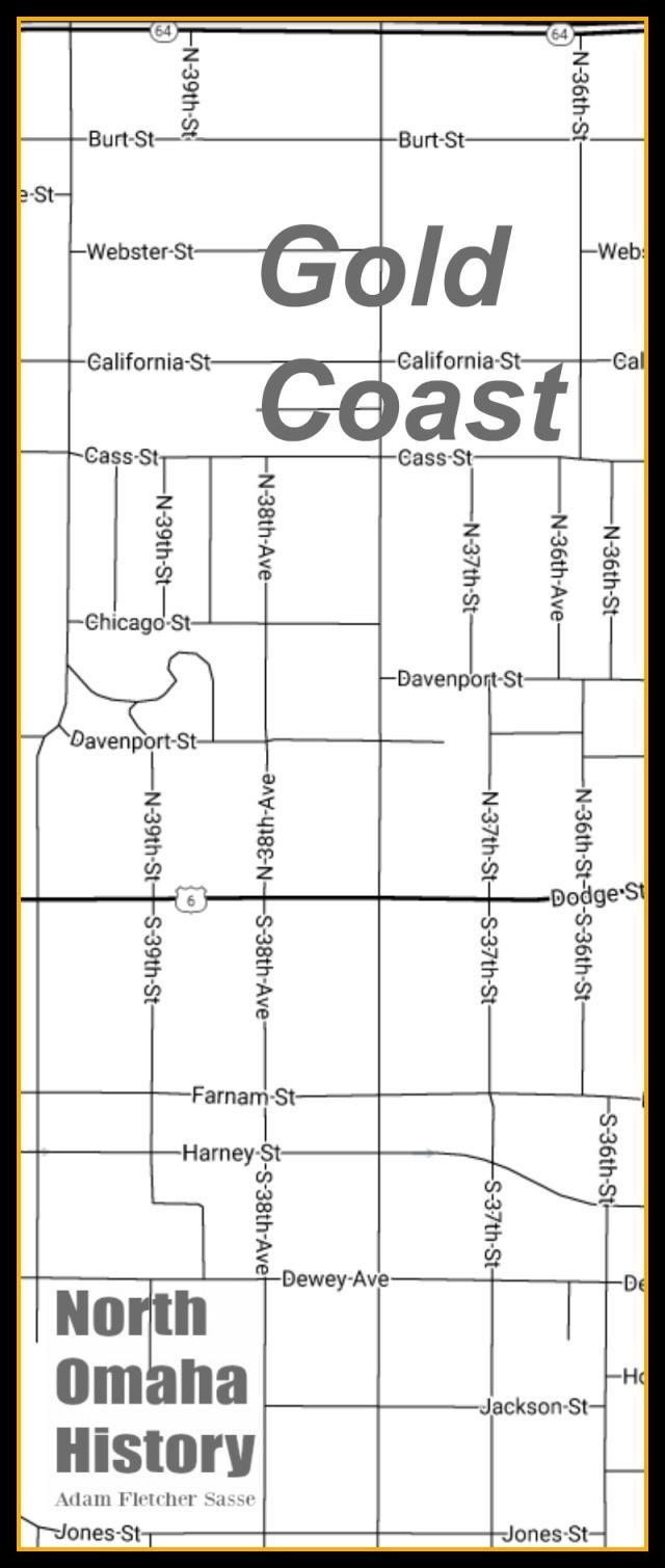 Map of Gold Coast, North Omaha, Nebraska