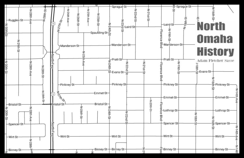 Map of Kountze Place, North Omaha, Nebraska