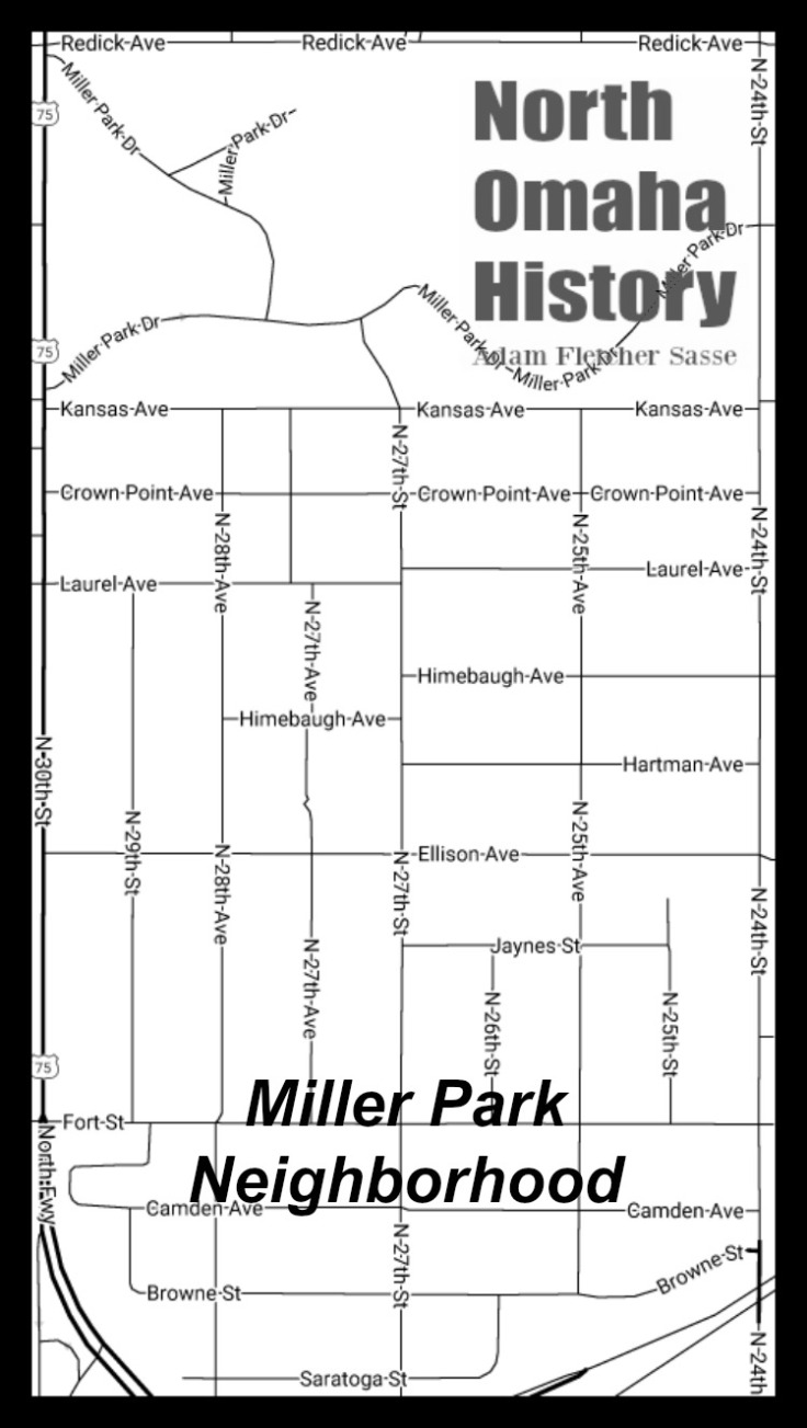 Map of Miller Park, North Omaha, Nebraska