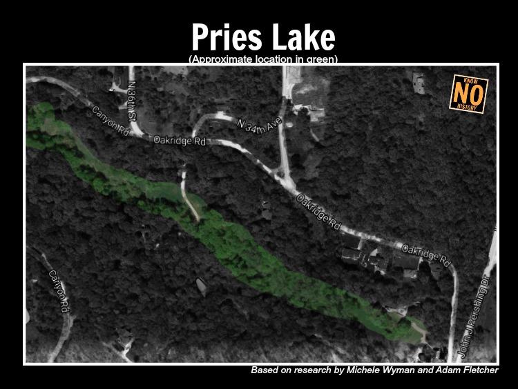 Pries Lake, Oak Ridge and JJ Pershing Drives, North Omaha, Nebraska