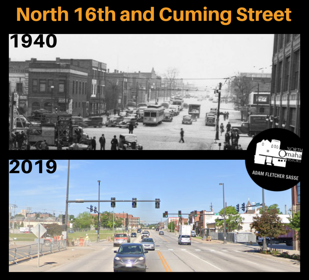 16th and Cuming Then and Now