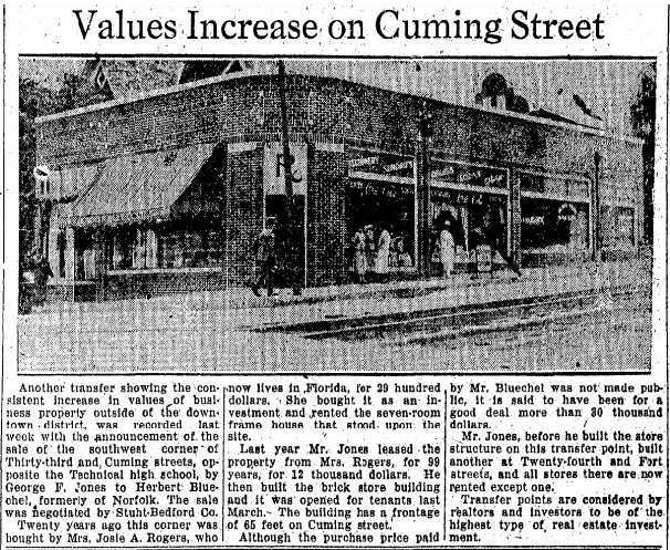 1923 33rd and Cuming SW corner North Omaha Nebraska