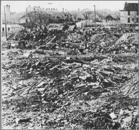 A dump that was at North 30th and Cuming Streets in North Omaha, Nebraska, in 1915.