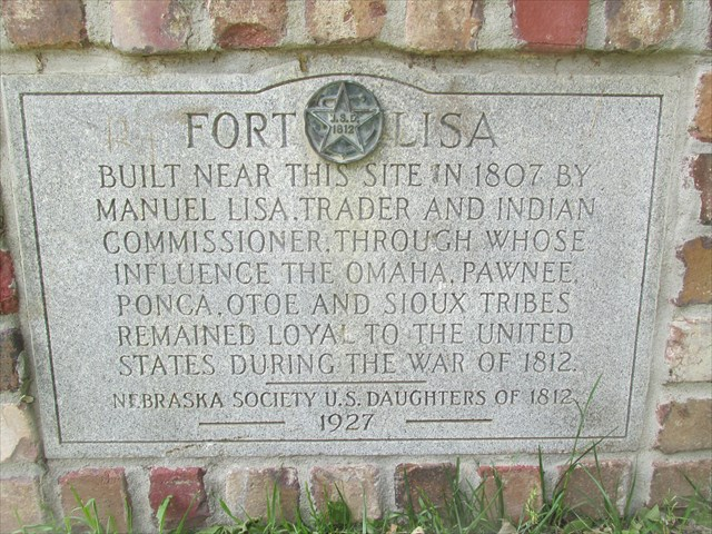 Fort Lisa historical marker, Hummel Park, North Omaha, Nebraska