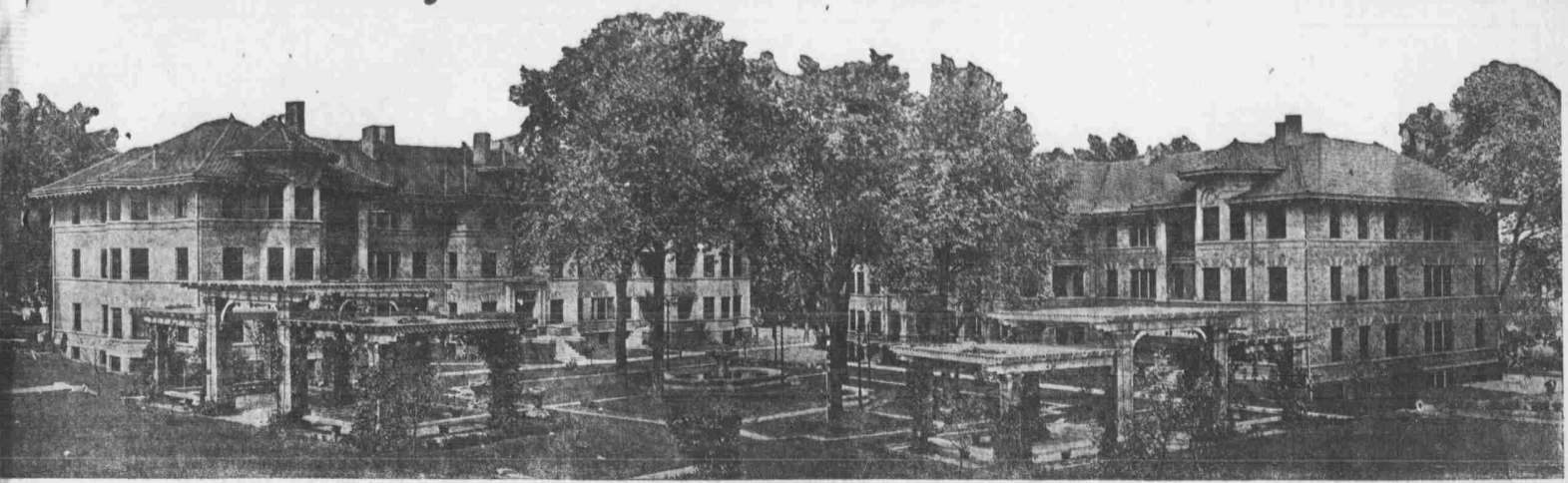 This is a 1915 pic of two buildings at Strehlow Court from the Omaha Bee