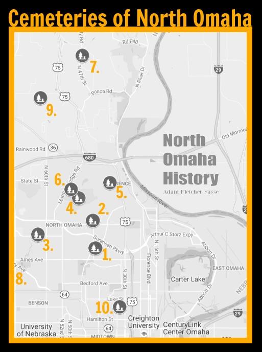 Cemeteries of North Omaha, Nebraska