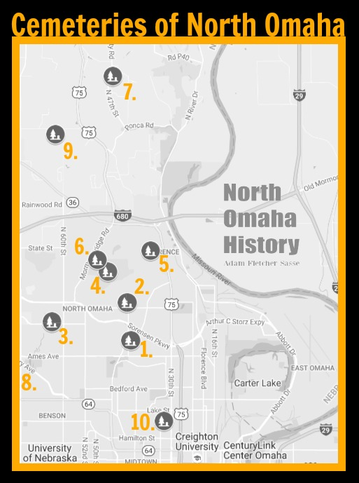 Cemeteries of North Omaha, Nebraska