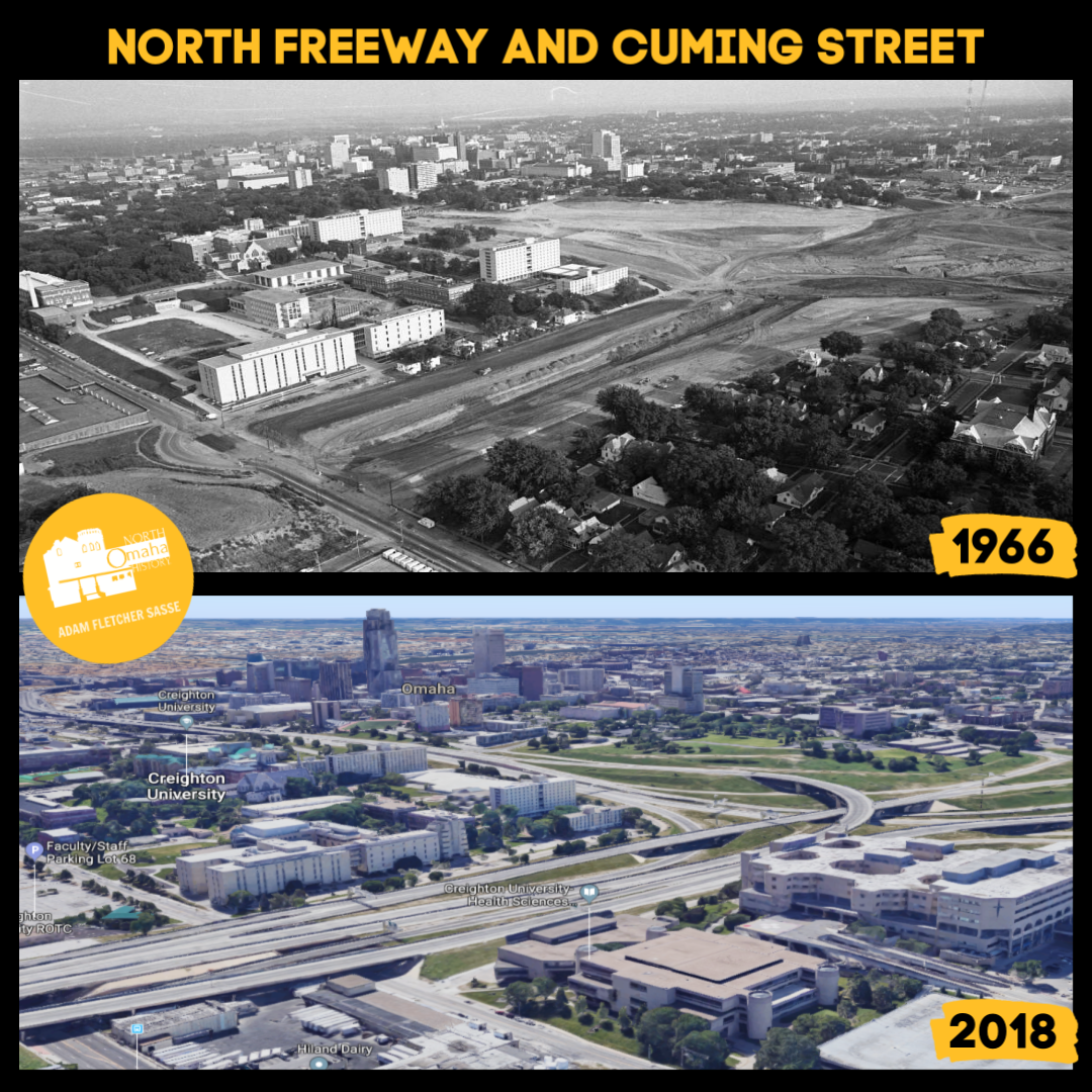 North Freeway and Cuming Street, North Omaha, Nebraska