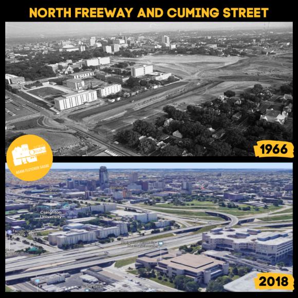 North Freeway and Cuming Street, North Omaha, Nebraska