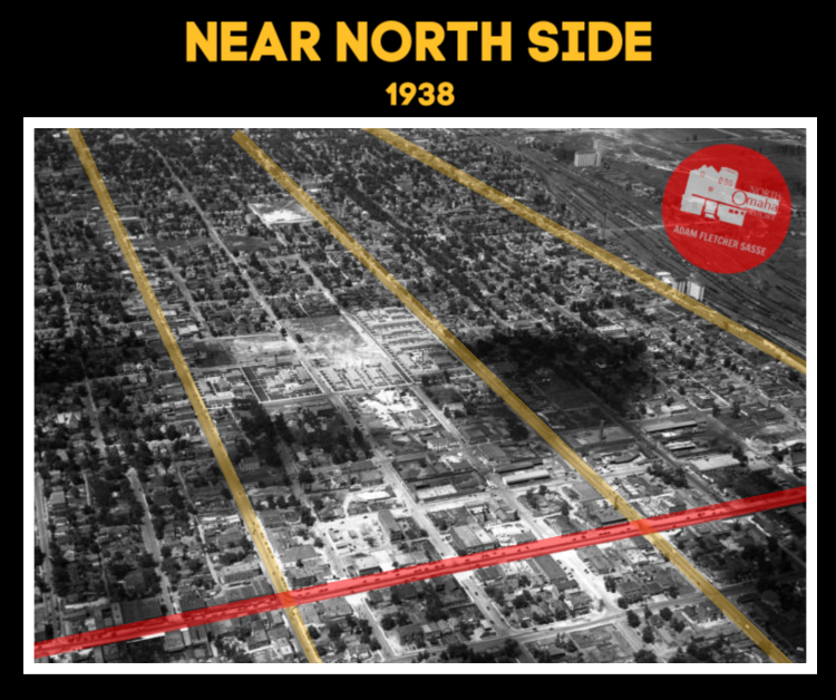 1938 image of the Near North Side, North Omaha, Nebraska