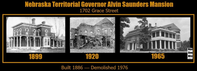 Nebraska Territorial Governor Alvin Saunders Mansion, 1702 Grace Street, North Omaha, Nebraska