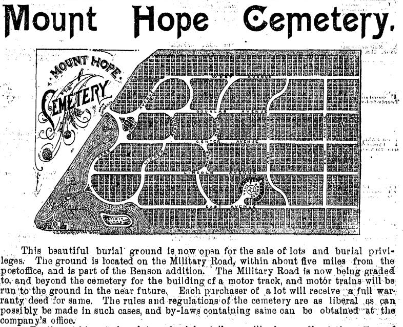 Mount Hope Cemetery, 7602 Military Ave, North Omaha, Nebraska
