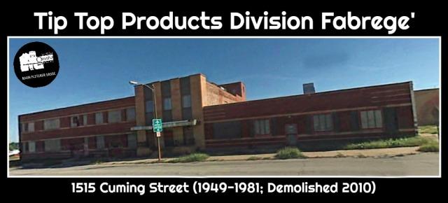 Tip Top Products Division Fabrege', 1515 Cuming Street, North Omaha, Nebraska