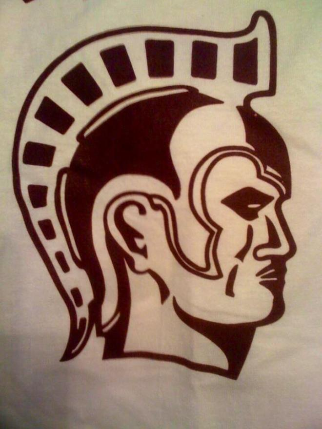 The Trojan mascot from Tech High School, Omaha, Nebraska