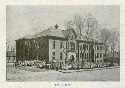 This is Long School at 2520 Franklin Street in North Omaha in the 1890s.