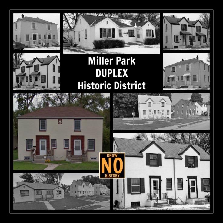 Miller Park Duplex Historic District, North Omaha, Nebraska
