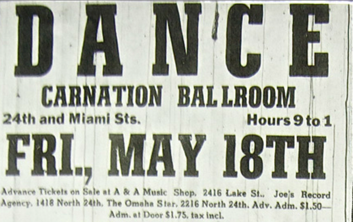 Carnation Ballroom at N. 24th and Miami Streets