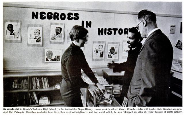 Ernie Chambers, Ebony magazine, April 1968