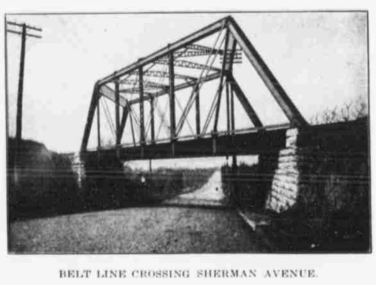 Belt Line Railroad crossing over Sherman Avenue, aka North 16th Street, North Omaha, Nebraska