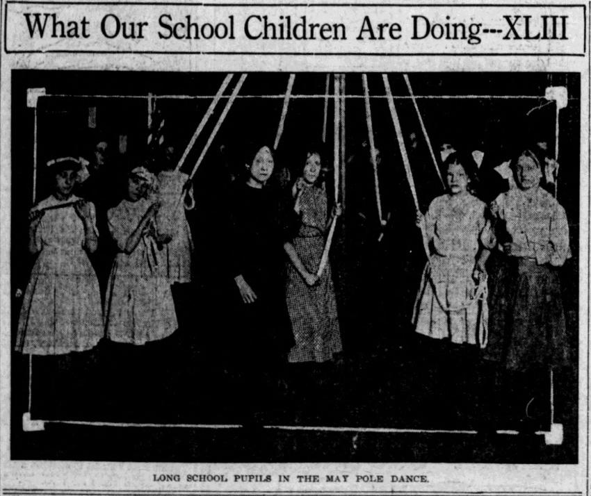 1914 Long School May Pole Dance, North Omaha, Nebraska