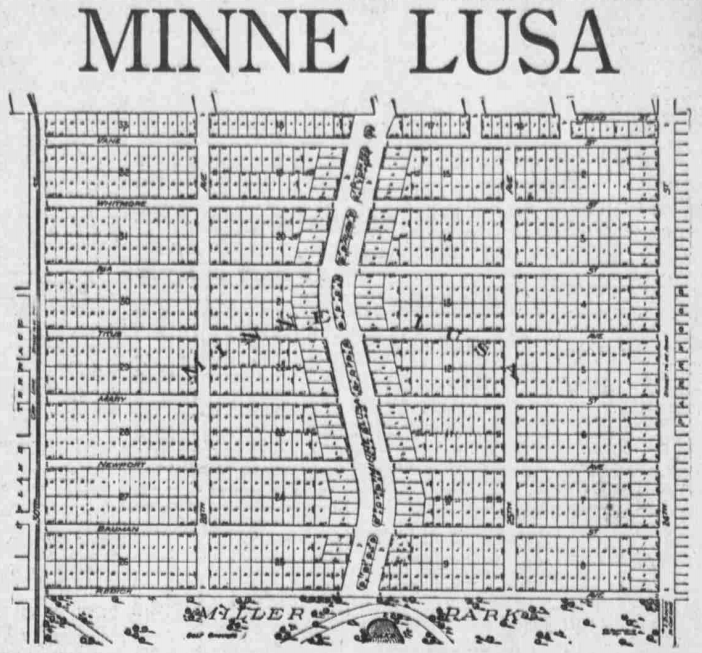 1916 Minne Lusa Map, North Omaha, Nebraska