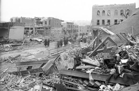 1913 Easter Sunday tornado damage at 24th and Lake in North Omaha, Nebraska