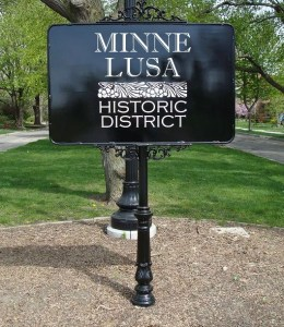 Minne Lusa Signage, North Omaha, Nebraska