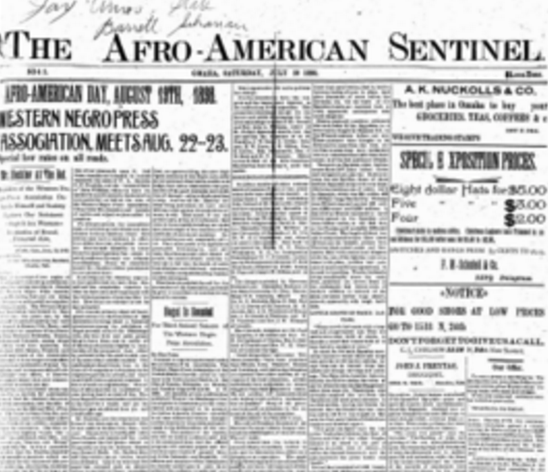 Afro-American Sentinel, Omaha, Nebraska