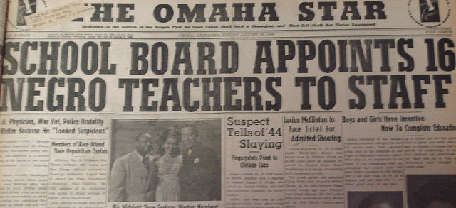 Omaha Star 1946 teachers hired